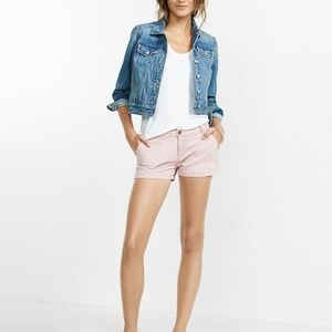 EXPRESS Twill Trouser Pocket Shorts